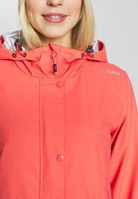 CMP - RAIN JACKET FIX HOOD - Waterproof jacket - peach - 5