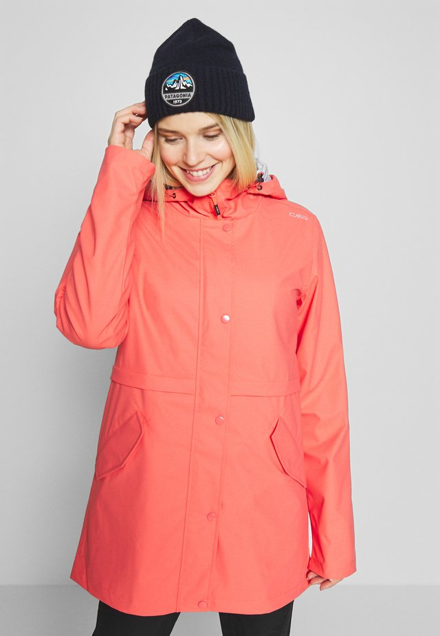 RAIN JACKET FIX HOOD - Regnjacka - peach