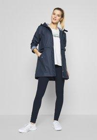 CMP - RAIN JACKET FIX HOOD - Waterproof jacket - black blue - 1
