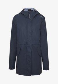 CMP - RAIN JACKET FIX HOOD - Waterproof jacket - black blue - 4