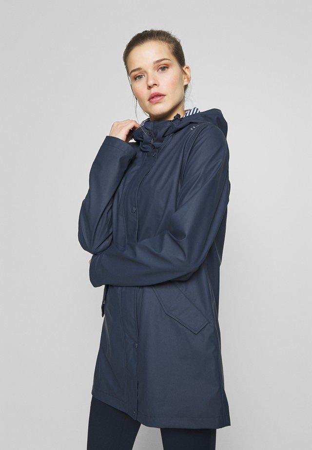 RAIN JACKET FIX HOOD - Waterproof jacket - black blue