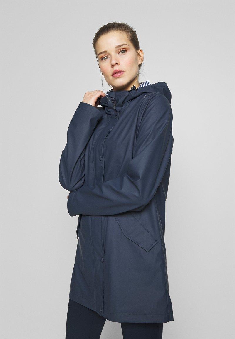 CMP - RAIN JACKET FIX HOOD - Waterproof jacket - black blue