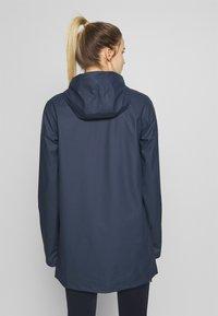 CMP - RAIN JACKET FIX HOOD - Waterproof jacket - black blue - 2