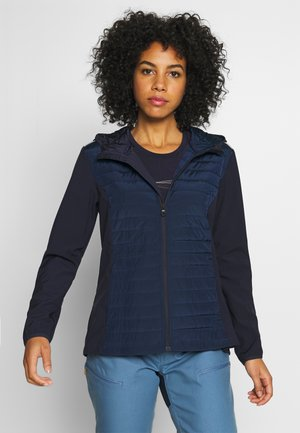 WOMAN JACKET FIX HOOD - Kurtka Outdoor - dark blue