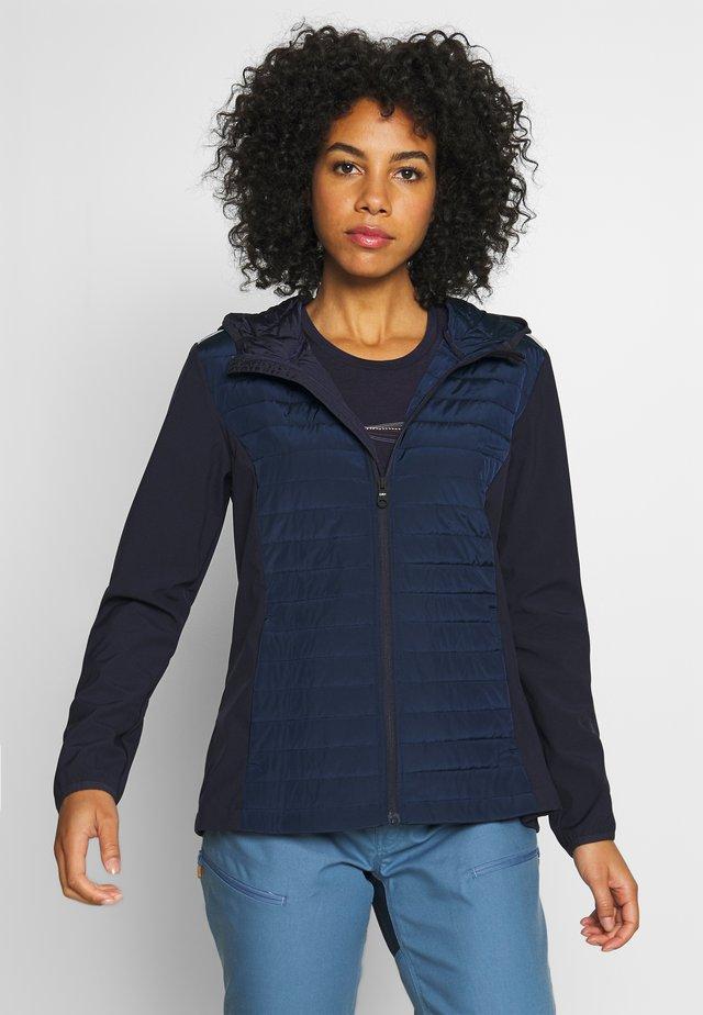 WOMAN JACKET FIX HOOD - Outdoor jakke - dark blue