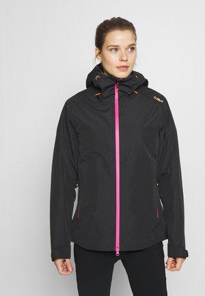 WOMAN JACKET FIX HOOD - Hardshell jacket - antracite