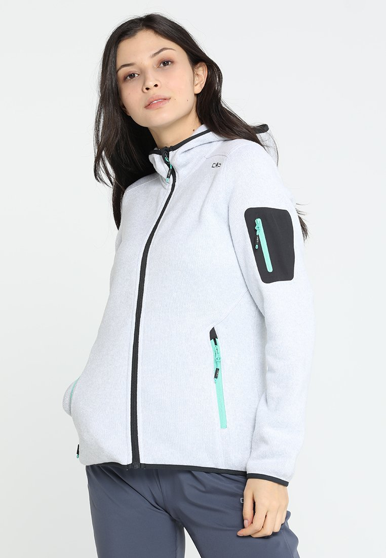 CMP - WOMAN JACKET FIX HOOD - Giacca in pile - ice/antracite