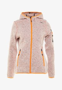 CMP - WOMAN JACKET FIX HOOD - Fleece jacket - orange - 4