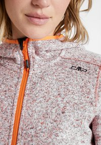 CMP - WOMAN JACKET FIX HOOD - Fleece jacket - orange