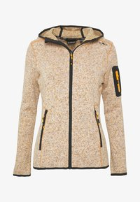 CMP - WOMAN JACKET FIX HOOD - Fleecejakker - solarium - 4