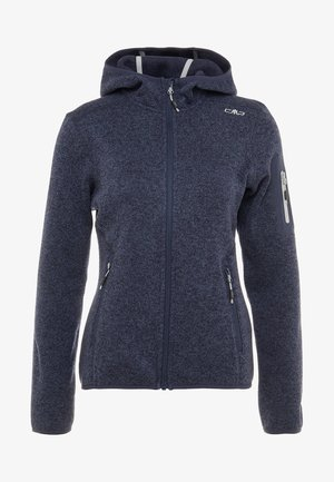 WOMAN JACKET FIX HOOD - Giacca in pile - bold blue/nero
