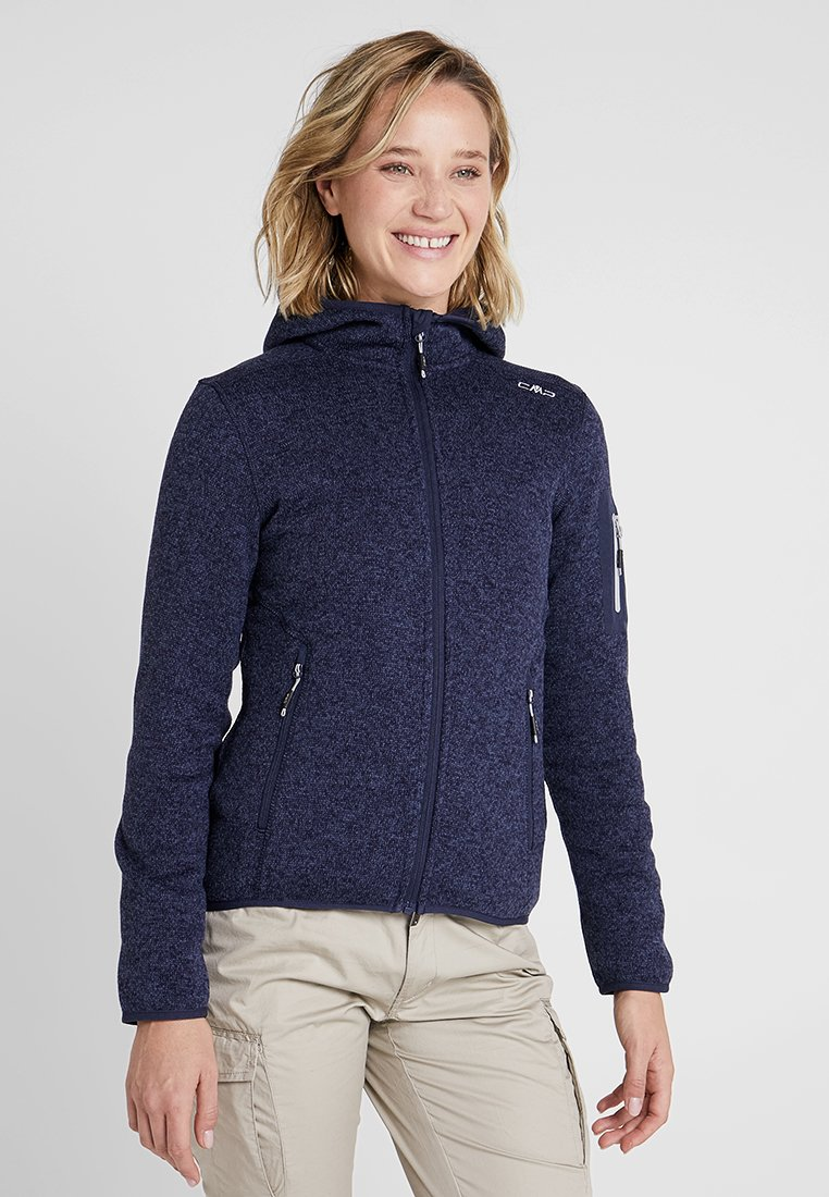CMP - WOMAN JACKET FIX HOOD - Fleecová bunda - bold blue/nero