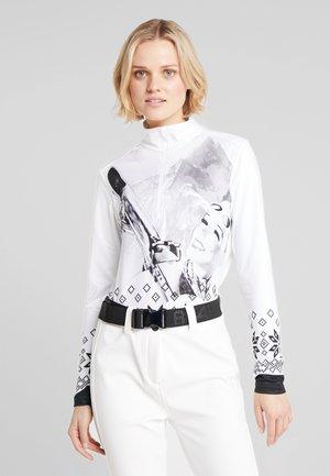 Langarmshirt - bianco/nero