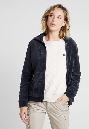 WOMAN JACKET - Felpa aperta - black blue