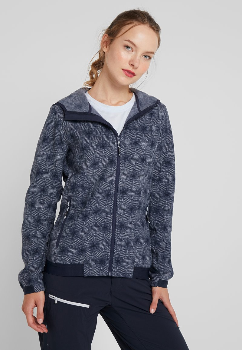 CMP - WOMAN JACKET FIX HOOD - Fleece jacket - grey/blue