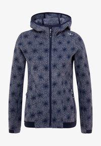 CMP - WOMAN JACKET FIX HOOD - Fleece jacket - grey/blue - 4