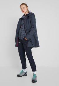 CMP - WOMAN JACKET FIX HOOD - Fleece jacket - grey/blue - 1