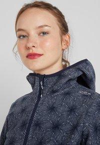 CMP - WOMAN JACKET FIX HOOD - Fleece jacket - grey/blue - 3
