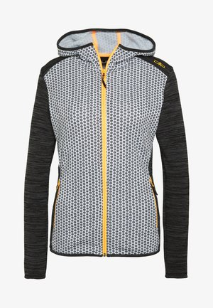 WOMAN JACKET FIX HOOD - Kurtka z polaru - glacier/anthrazit/cemento