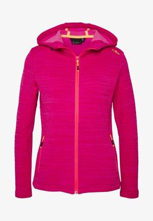 WOMAN JACKET FIX HOOD - Fleece jacket - gloss melange
