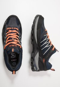 CMP - RIGEL LOW TREKKING SHOES WP - Obuwie hikingowe - antracite/flash orange - 1
