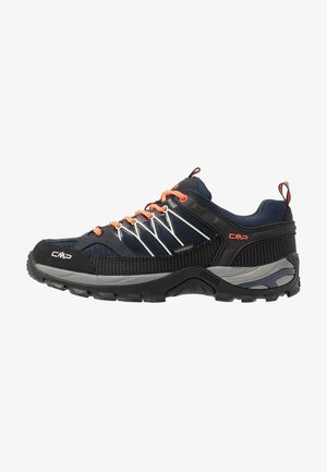 RIGEL LOW TREKKING SHOES WP - Hiking shoes - antracite/flash orange