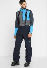 CMP - MAN SKI STRETCH SALOPETTE - Snow pants - black blue - 0