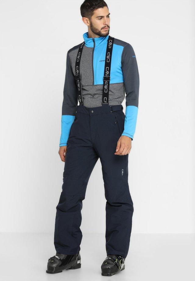 MAN SKI STRETCH SALOPETTE - Talvihousut - black blue