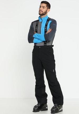 MAN SKI STRETCH SALOPETTE - Pantalon de ski - nero