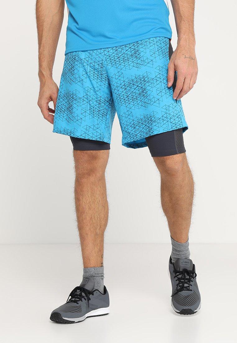 CMP - MAN TRAIL BERMUDA 2-IN-1  - Sports shorts - cyano/antracite