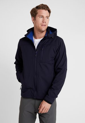 MAN JACKET ZIP HOOD - Kurtka Softshell - blue/marine