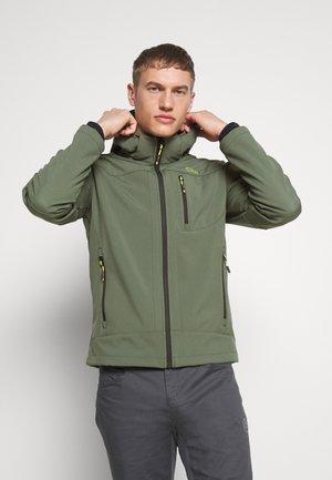 MAN JACKET ZIP HOOD - Soft shell jacket - muschio