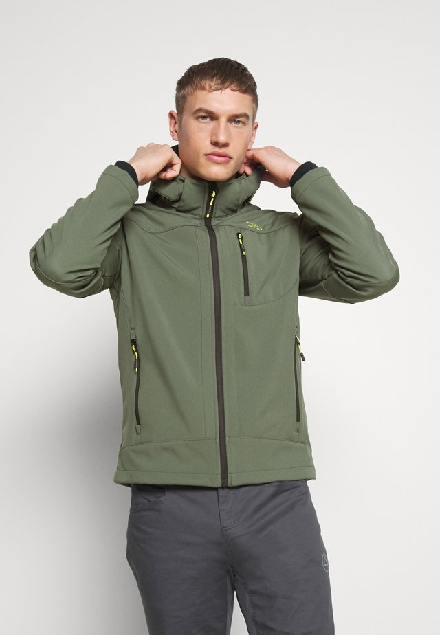 MAN JACKET ZIP HOOD - Softshell jakker - muschio