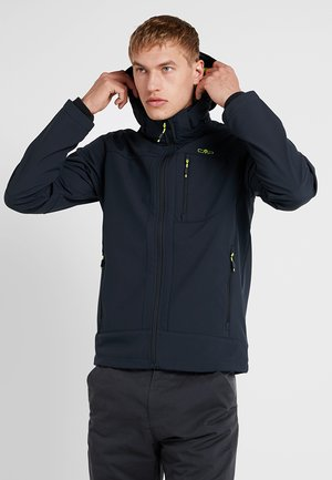 MAN JACKET ZIP HOOD - Giacca softshell - antracite/cedro