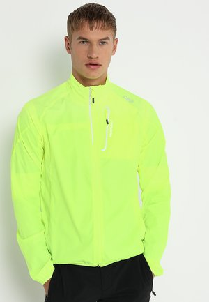 MAN TRAIL JACKET - Veste de running - yellow fluorecent