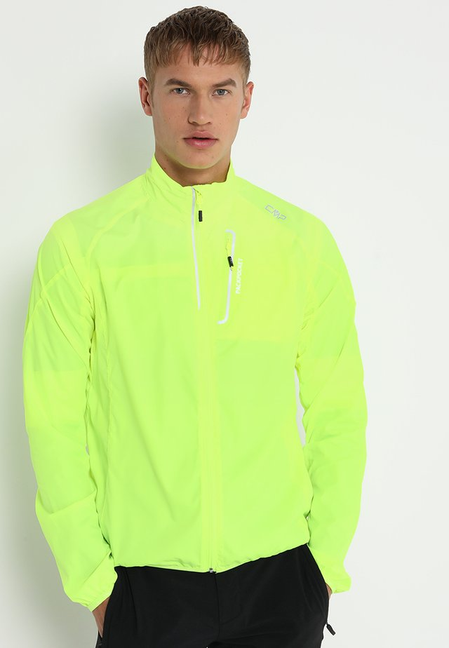 MAN TRAIL JACKET - Løbejakker - yellow fluorecent