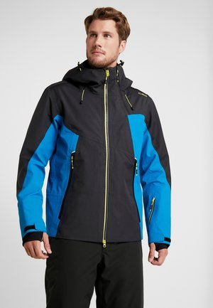 MAN JACKET FIX HOOD - Ski jas - antracite