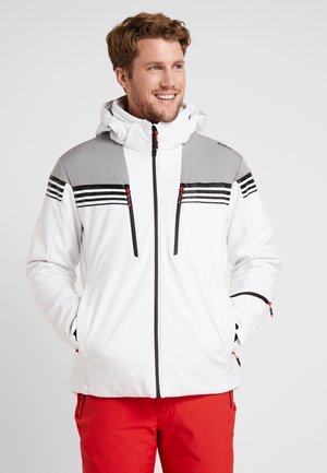 MAN JACKET ZIP HOOD - Ski jas - bianco