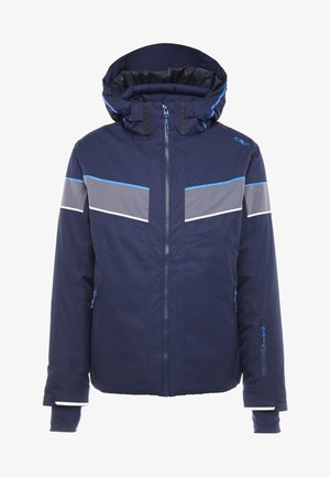 MAN JACKET ZIP HOOD - Skijakker - black blue