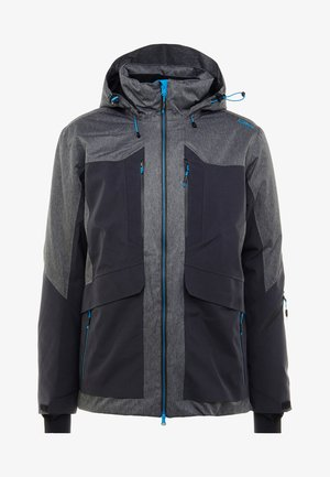MAN JACKET LONG ZIP HOOD - Ski jacket - antracite