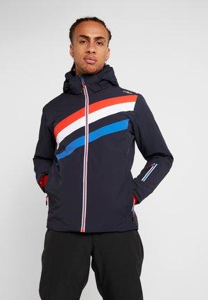 MAN JACKET ZIP HOOD - Ski jas - black blue