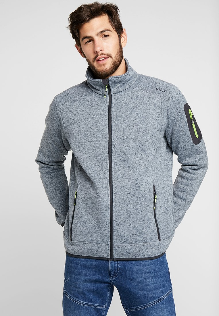 CMP - Fleece jacket - argento/asphalt/limegreen