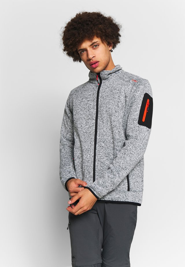 MAN JACKET - Fleece jacket - grey/grey