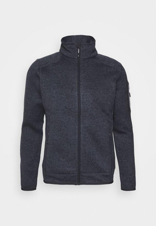 MAN JACKET - Fleece jacket - asphalt melanhe/ghiaccio
