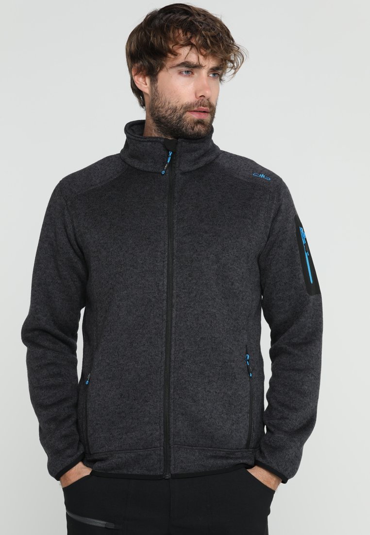 CMP - MAN JACKET - Fleece jacket - nero/antracite