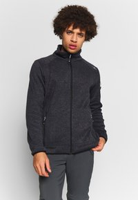 CMP - MAN JACKET - Fleece jacket - nero/glacier - 0