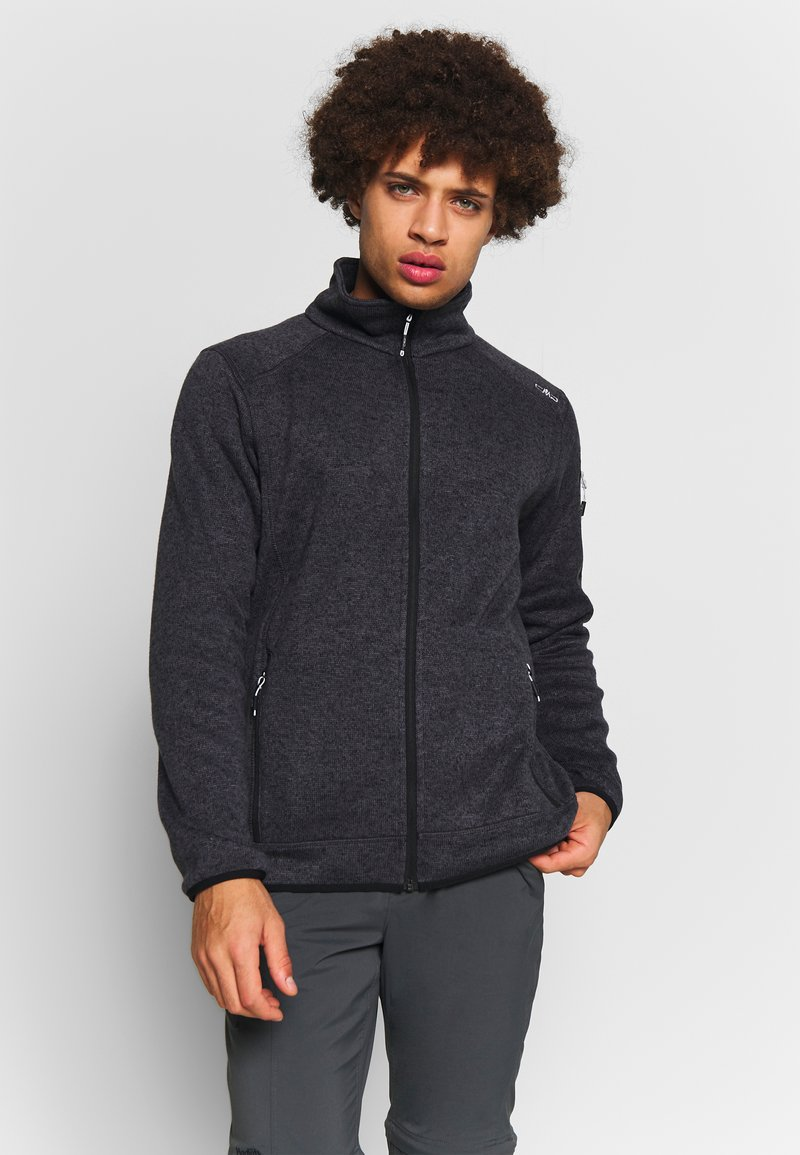 CMP - MAN JACKET - Fleece jacket - nero/glacier