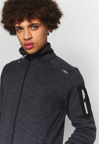 CMP - MAN JACKET - Fleece jacket - nero/glacier - 4