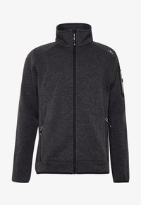 CMP - MAN JACKET - Fleece jacket - nero/glacier - 3