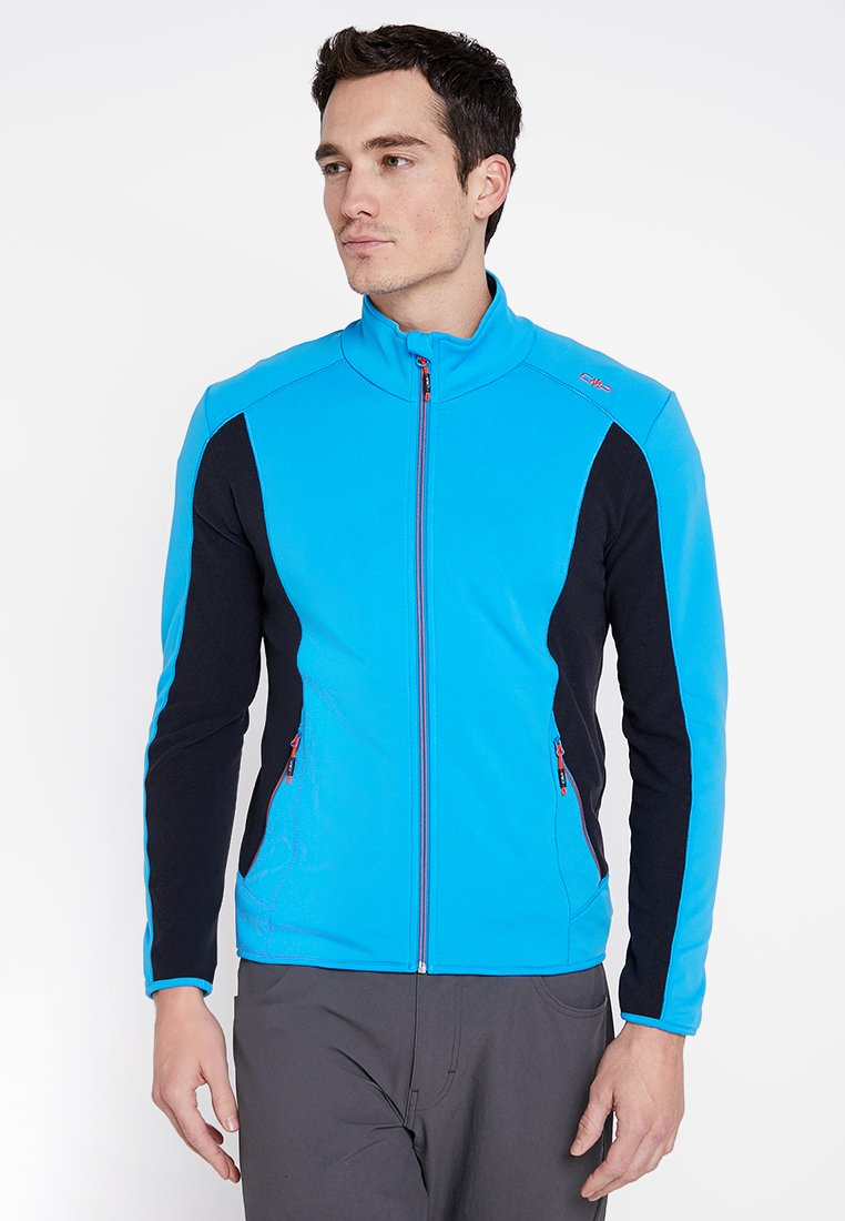 CMP - MAN JACKET - Fleecejakker - cyan/orange